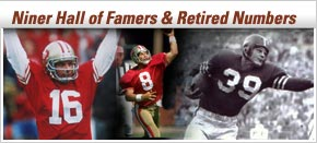 Niner Hall of Famers and Retired Numbers
